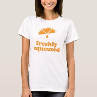 Camiseta Espremido recentemente