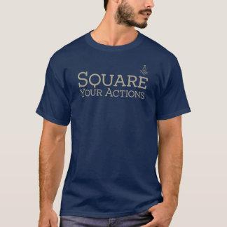 Camiseta Esquadre suas ações pelo quadrado da virtude