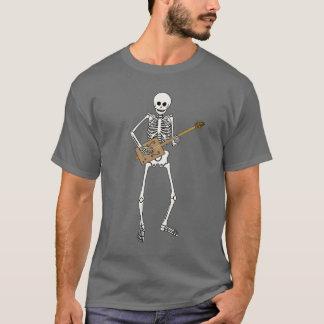 Camiseta Esqueleto da guitarra da caixa de charuto
