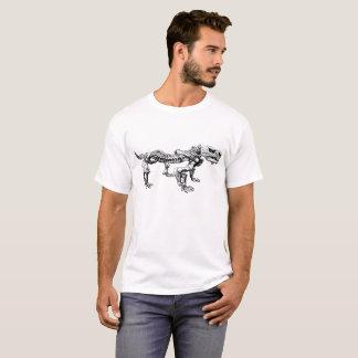 Camiseta Esqueleto da paleontologia do fóssil de dinossauro
