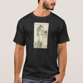 Camiseta Esqueleto de Andreas Vesalius da anatomia do