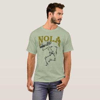 Camiseta Esqueleto de NOLA com chifre