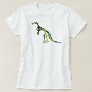 Camiseta esqueleto do claosaurus