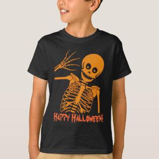 Camiseta Esqueleto do Dia das Bruxas!