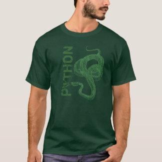 Camiseta Esqueleto do pitão, cobra bobinado pronto para