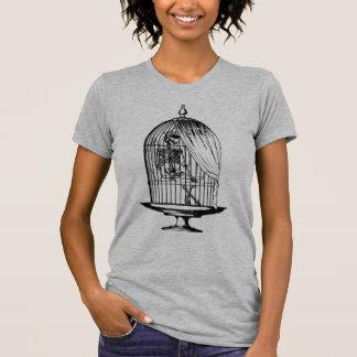 Camiseta Esqueleto em um Birdcage