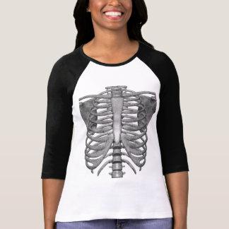 Camiseta esqueleto fácil do traje do Dia das Bruxas