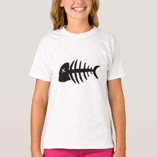 Camiseta esqueleto inoperante dos peixes