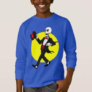 Camiseta Esqueleto no terno do smoking