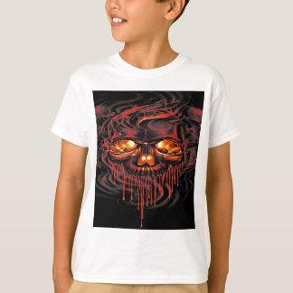 Camiseta Esqueletos vermelhos sangrentos