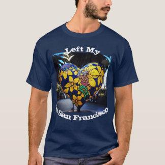 Camiseta Esquerda meu coração no t-shirt da foto de San