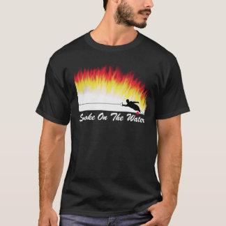 """Camiseta Esqui de água do slalom """"fumo t-shirt na água"""""""