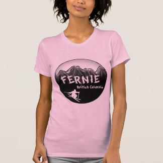 Camiseta Esqui de Canadá do Columbia Britânica de Fernie