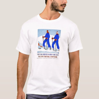 Camiseta Esqui no poster vintage de NewYork