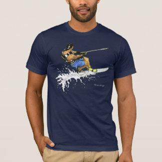 Camiseta Esquiador da água - azul