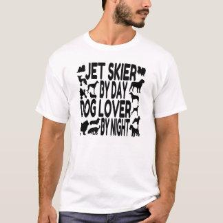 Camiseta Esquiador do jato do amante do cão