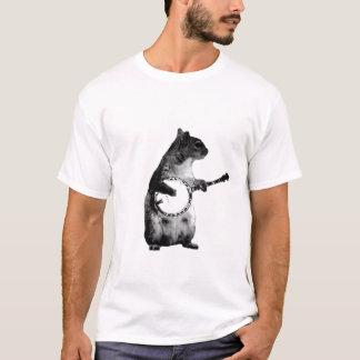 Camiseta esquilo que joga um banjo