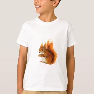 Camiseta Esquilo vermelho pintado na arte dos animais