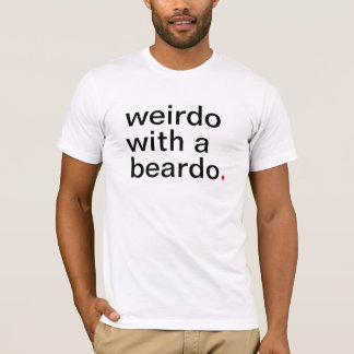 Camiseta esquisito com um beardo.