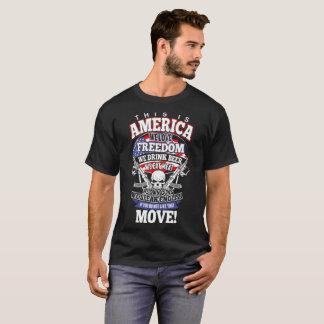 Camiseta Esta América nós amamos a cerveja da bebida da