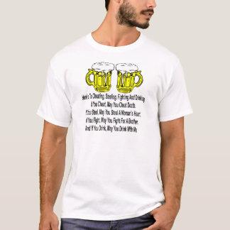 Camiseta Está aqui ao engano, ao roubo, à luta & a beber
