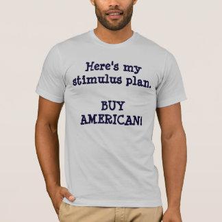 Camiseta Está aqui meu AMERICANO do estímulo plan.BUY!