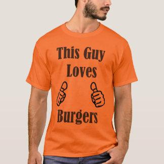 Camiseta Esta cara ama hamburgueres