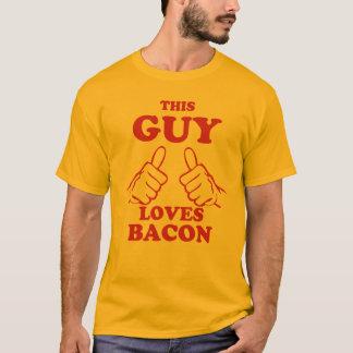 Camiseta Esta cara ama o bacon