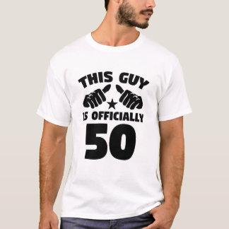 Camiseta Esta cara é oficialmente 50 anos de 50th