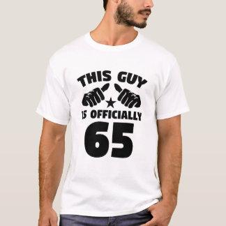 Camiseta Esta cara é oficialmente 65 anos de 65th