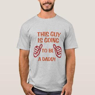 Camiseta esta cara está indo ser T engraçado do pai do bebê