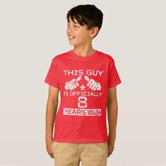 Camiseta Esta cara tem oficialmente 8 anos velha