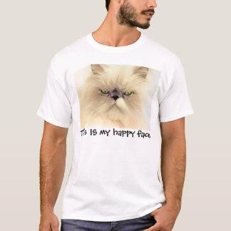 Camiseta Esta É minha cara feliz, t-shirt engraçados do