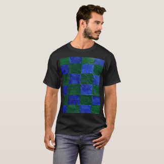 Camiseta Esta é uma T-Camisa azul e verde do verificador