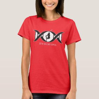 Camiseta Está em meu ADN - esqui da neve do estilo livre