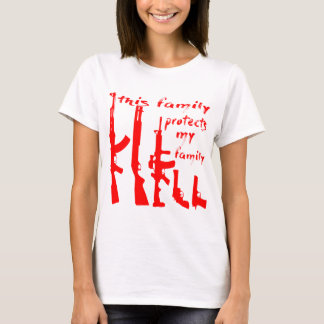 Camiseta Esta família protege minha família