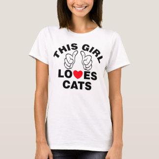 Camiseta Esta menina ama gatos