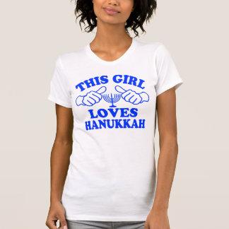 Camiseta Esta menina ama Hanukkah