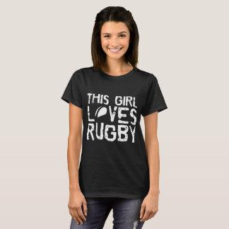 Camiseta Esta menina ama t-shirt do futebol dos esportes do