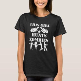 Camiseta Esta menina caça zombis