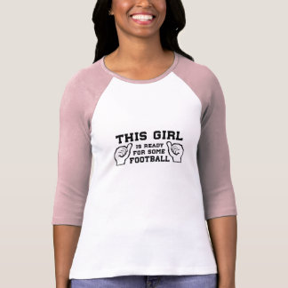 Camiseta Esta menina está pronta para algum futebol