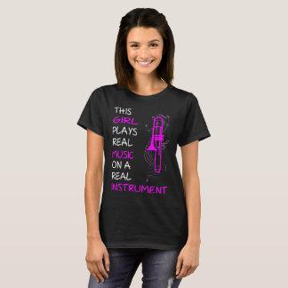 Camiseta Esta menina joga o T real do Trombone do