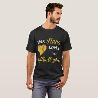 Camiseta esta Nana ama seus t-shirt das namoradas do