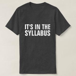 Camiseta Está no professor engraçado Professor do plano de