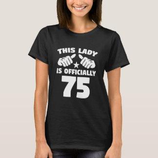 Camiseta Esta senhora Ser Oficial 75 anos de 75th