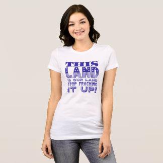 """Camiseta """"Esta terra…"""" Tipo da bandeira azul"""