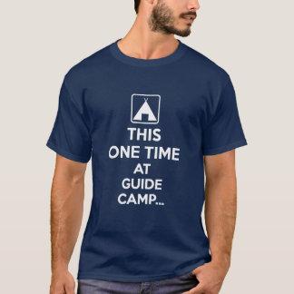 Camiseta Esta uma vez no acampamento do guia