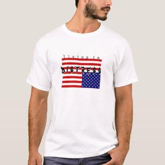 Camiseta está vivendo - - aflição