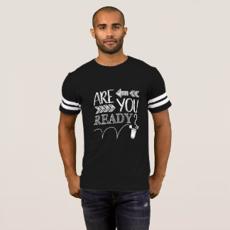 Camiseta Está você pronto? LUGAR de Pong da cerveja do giz