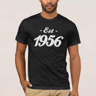 Camiseta estabelecido 1956 - aniversário